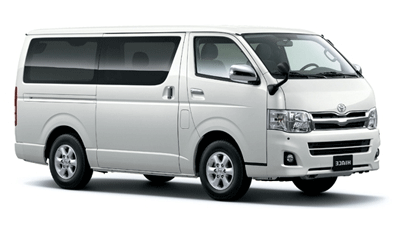 Toyota Hiace Van Hire Rarotonga Airport & other locations